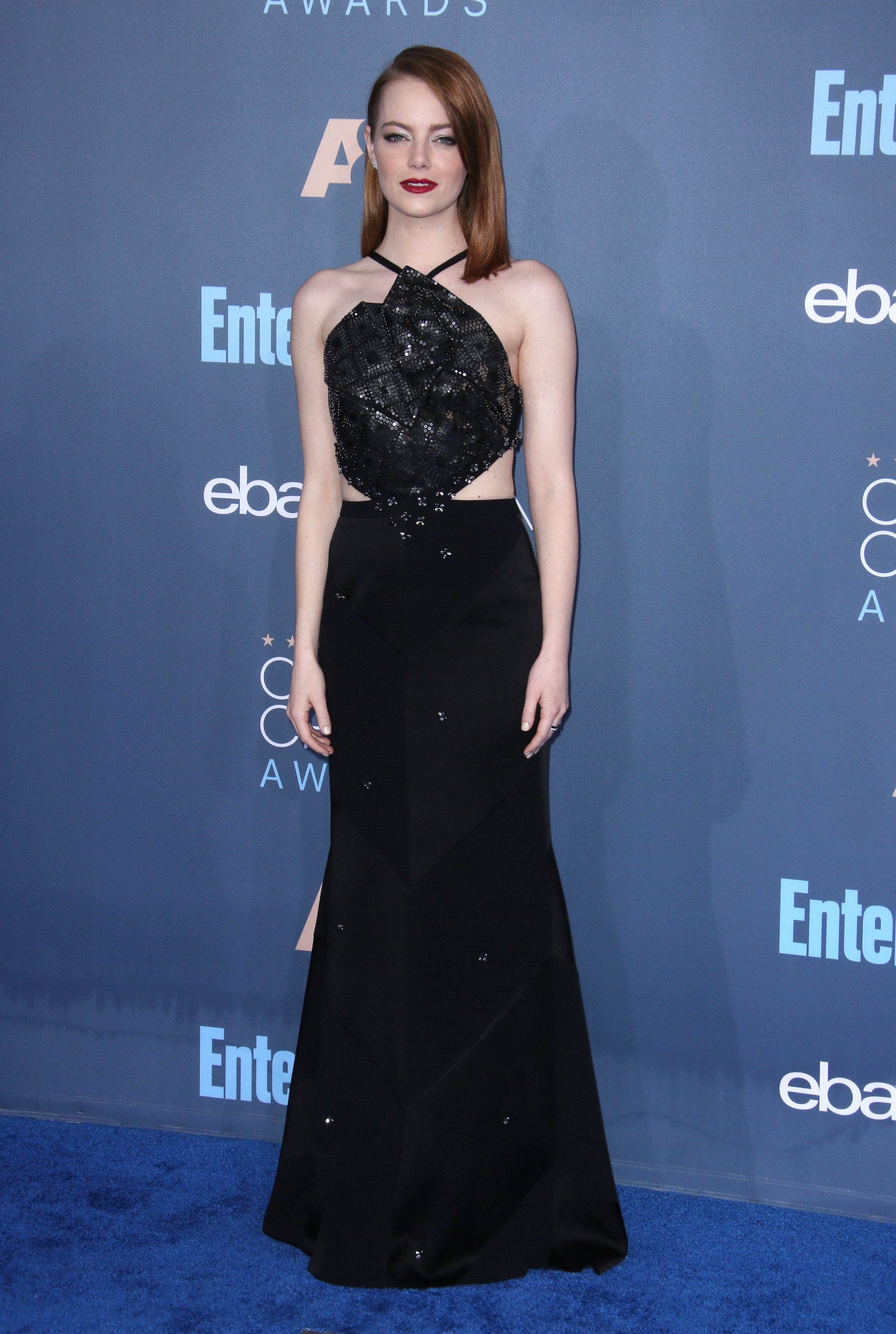 Emma Stone at the 22nd Annual Critics' Choice Awards, 2016. Photo by Matt Baron/BEI/Shutterstock
