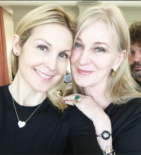 Kelly Rutherford models her new jewelry line