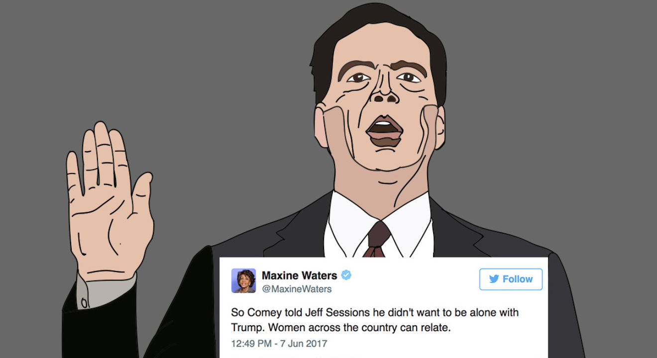 The Comey testimony reminded Twitter of a sexual assault testimony.