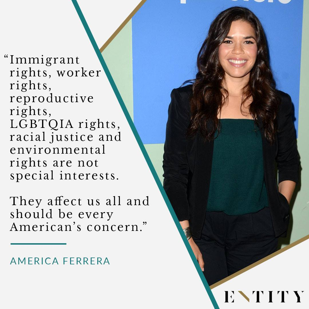 ENTITY reports on america ferrera quote about human rights