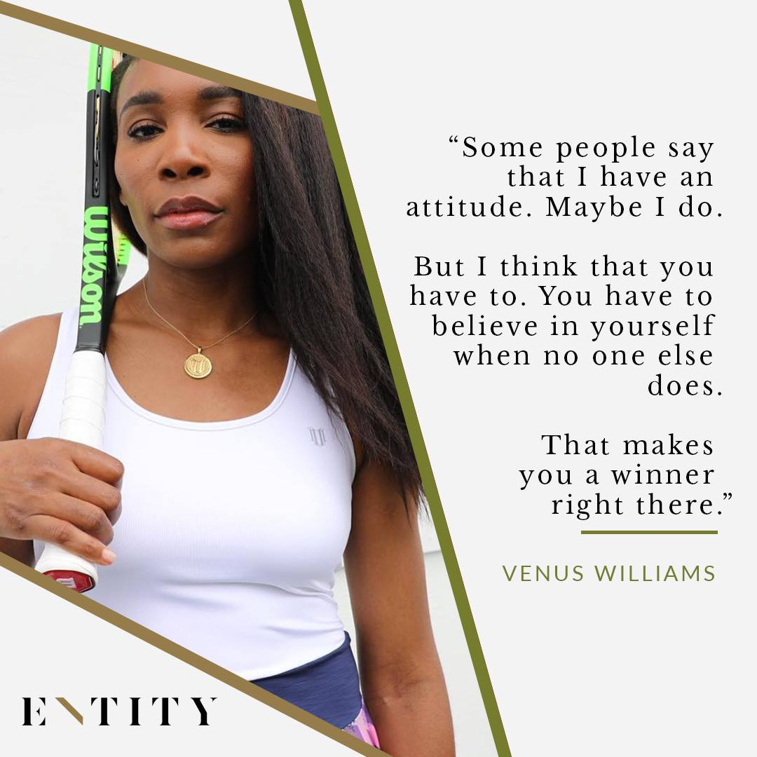 ENTITY Reports On Venus Williams Quotes About Winning.