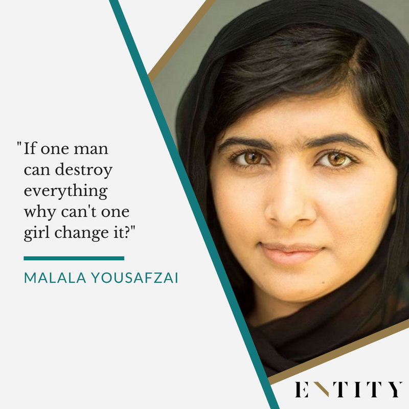 ENTITY reports on malala yousafzai quotes about women