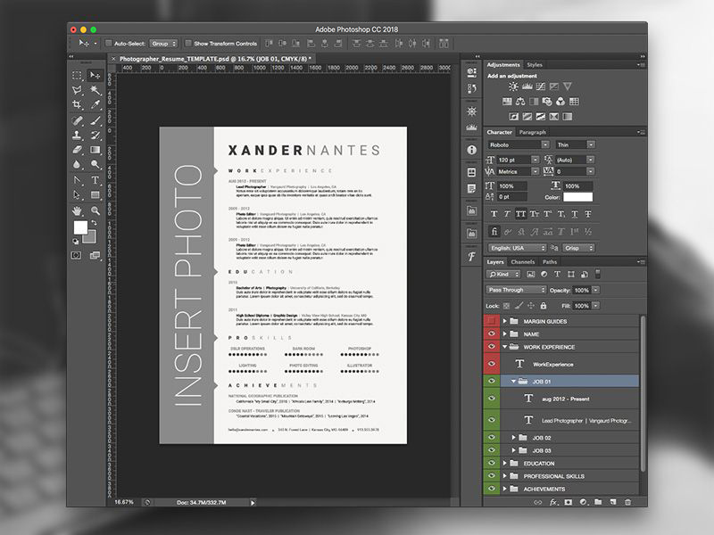 Adobe Resume Photoshop_Applying for a job