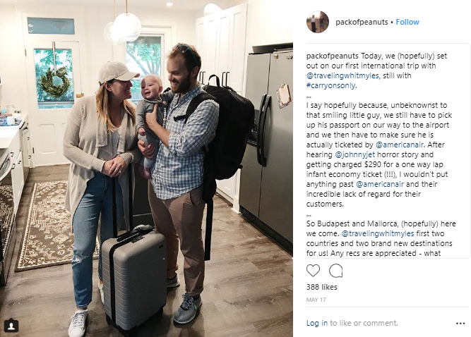ENTITY explains the travel influencer Extra Pack of Peanuts