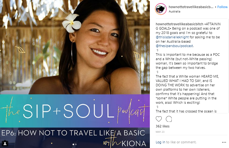 ENTITY discusses female travel influencer Kiona and others