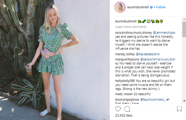 Lauren bushnell Instagram comments