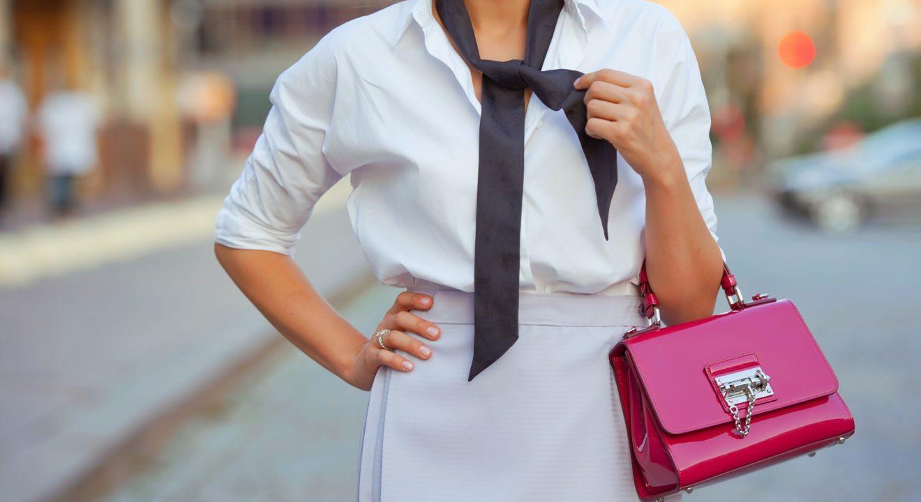 Entity teaches women to press and iron their shirts.