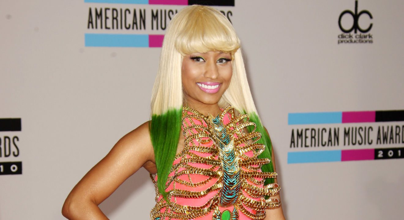 Entity looks at Nicki Minaj's hairstyle from the 2010 American Music Awards.
