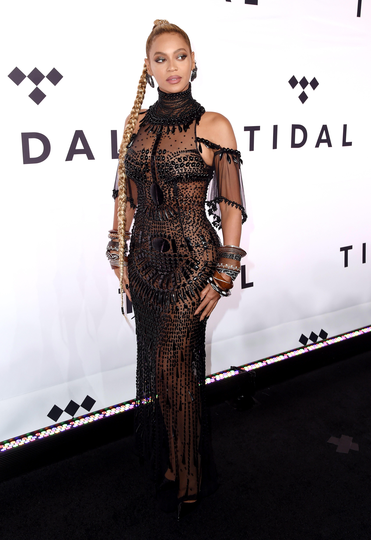 Beyonce at the TIDAL X concert, 2016. Photo by Stephen Lovekin/REX/Shutterstock