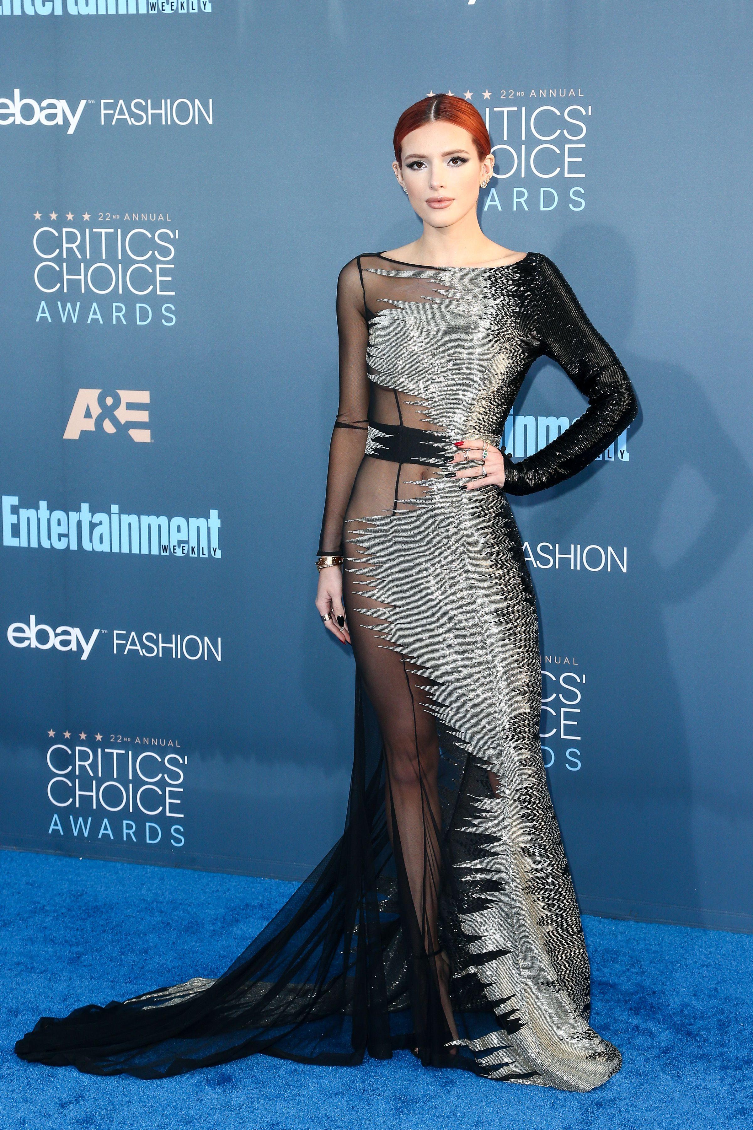 Bella Thorne at the 22nd Annual Critics' Choice Awards. Photo by John Salangsang/BFA/REX/Shutterstock