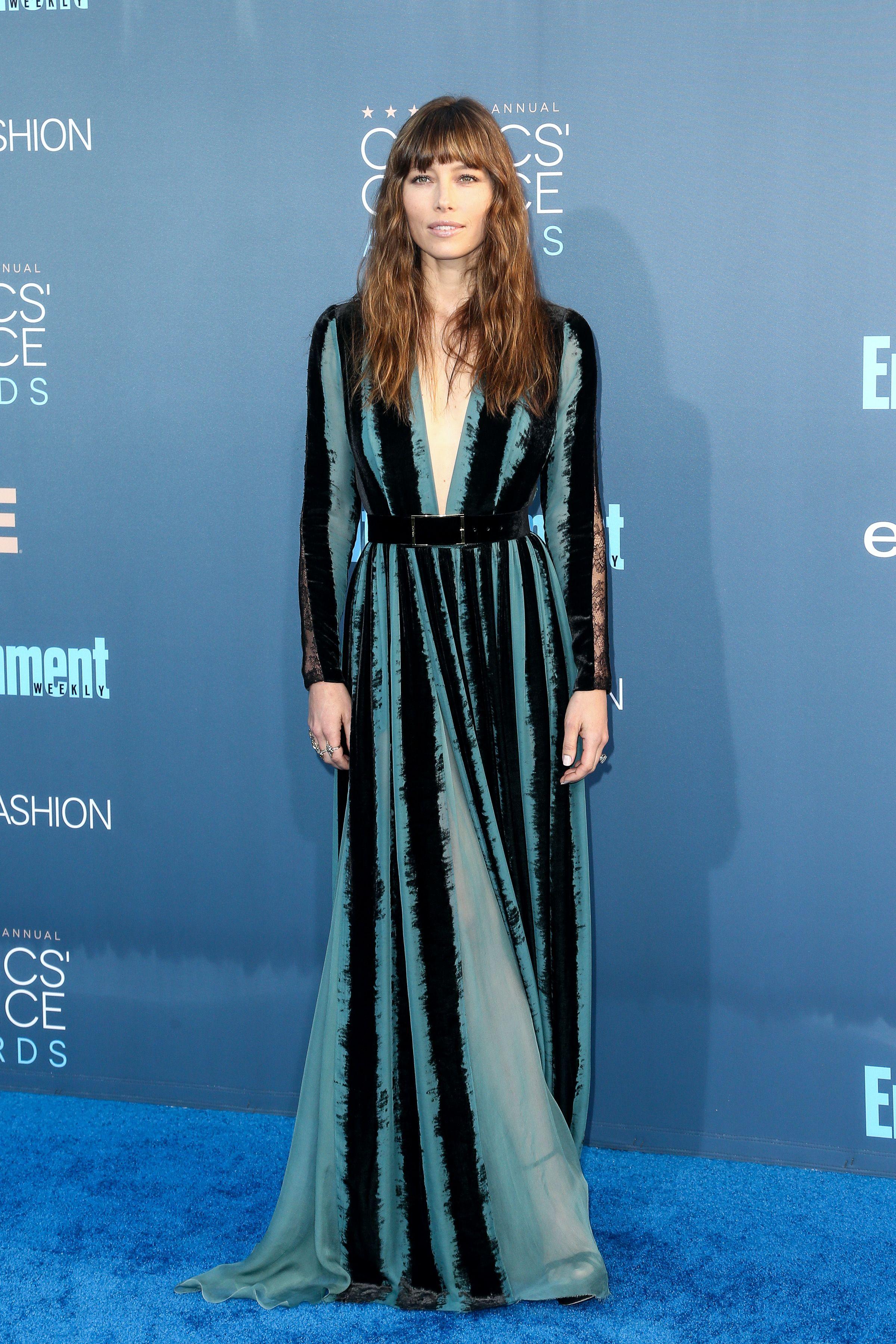 Jessica Biel at the 22nd Annual Critics' Choice Awards. Photo by John Salangsang/BFA/REX/Shutterstock
