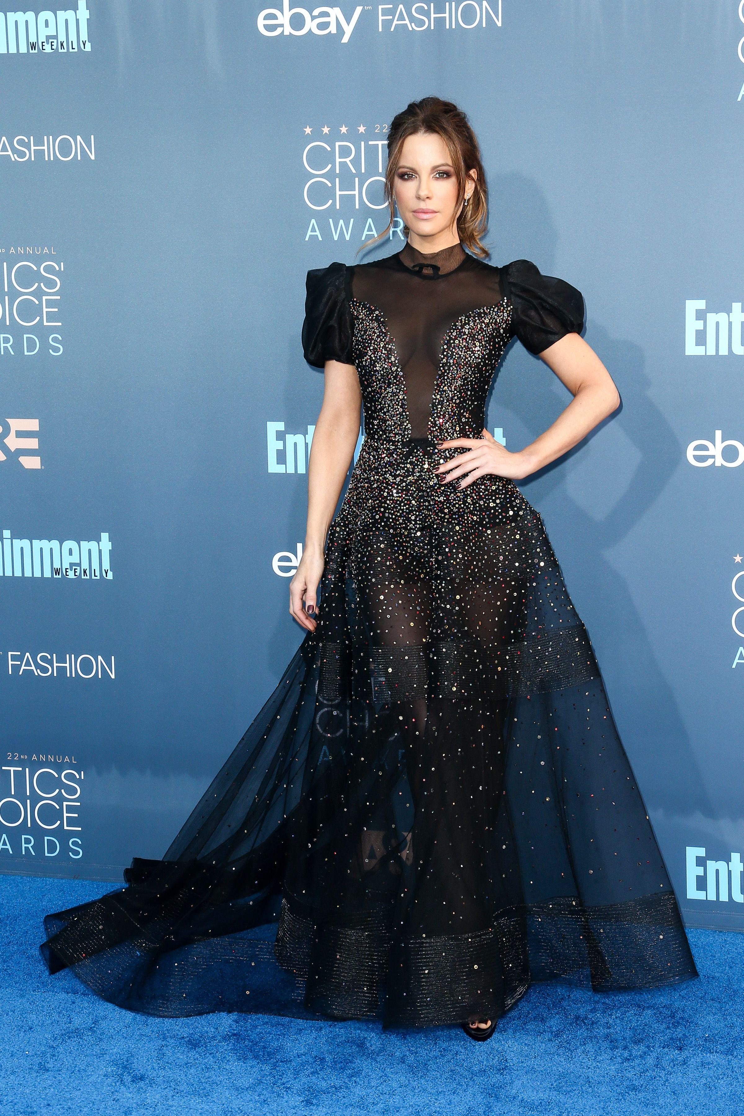 Kate Beckinsale at the 22nd Annual Critics' Choice Awards. Photo by John Salangsang/BFA/REX/Shutterstock