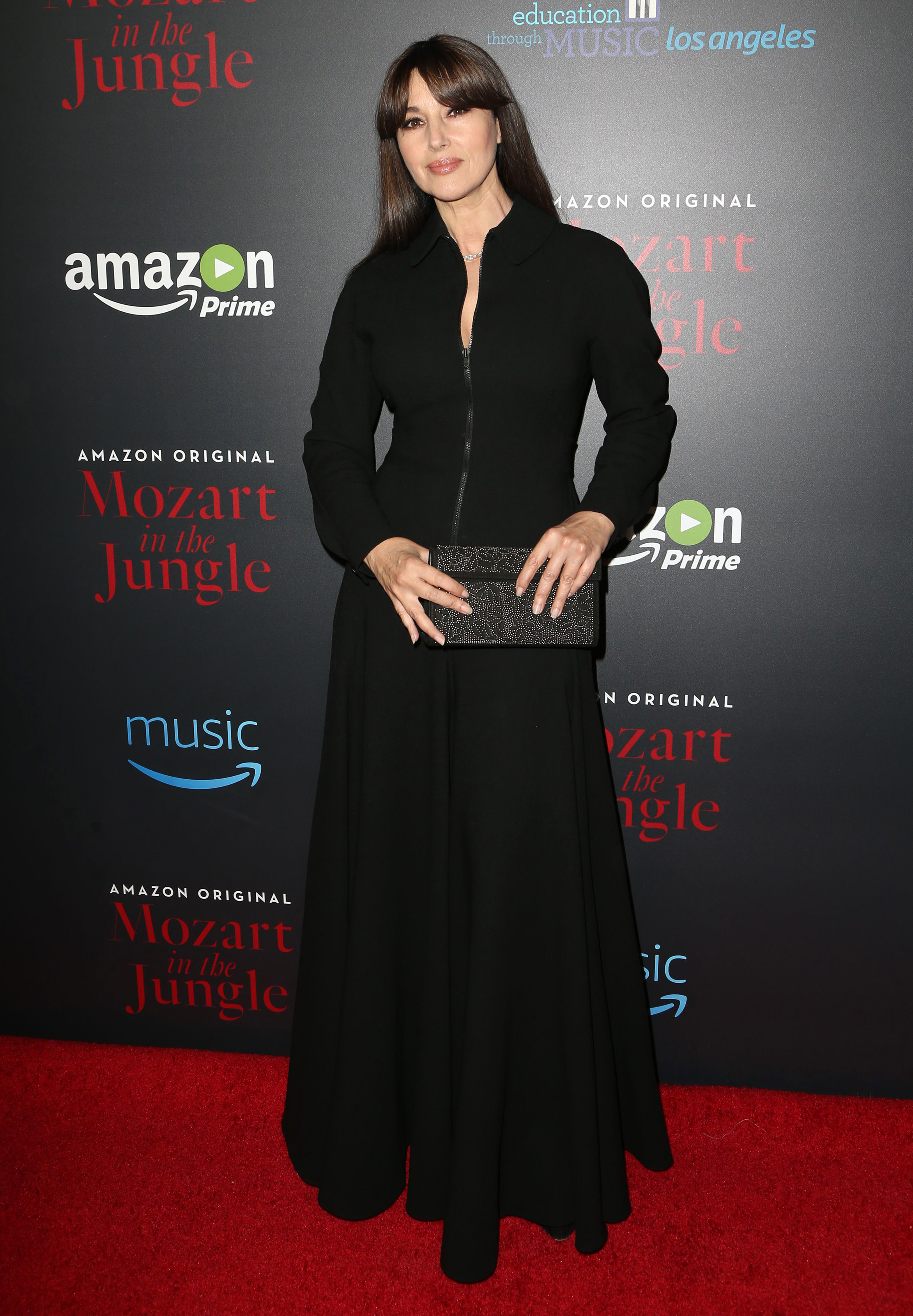 Monica Belluci at the 'Mozart in the Jungle' Premier. Photo by MediaPunch/REX/Shutterstock (7533045ae) Monica Bellucci 'Mozart In The Jungle' TV series, Los Angeles, USA - 01 Dec 2016