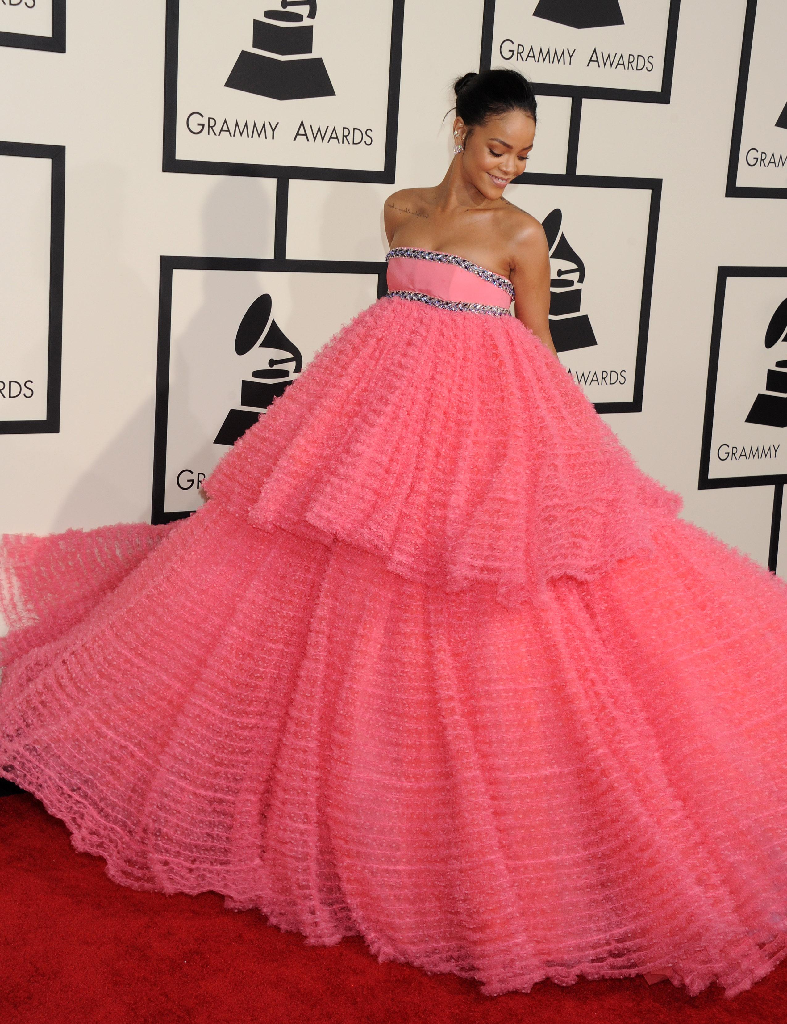 Rihanna at the Grammy Awards, 2015. Photo by Broadimage/REX/Shutterstock