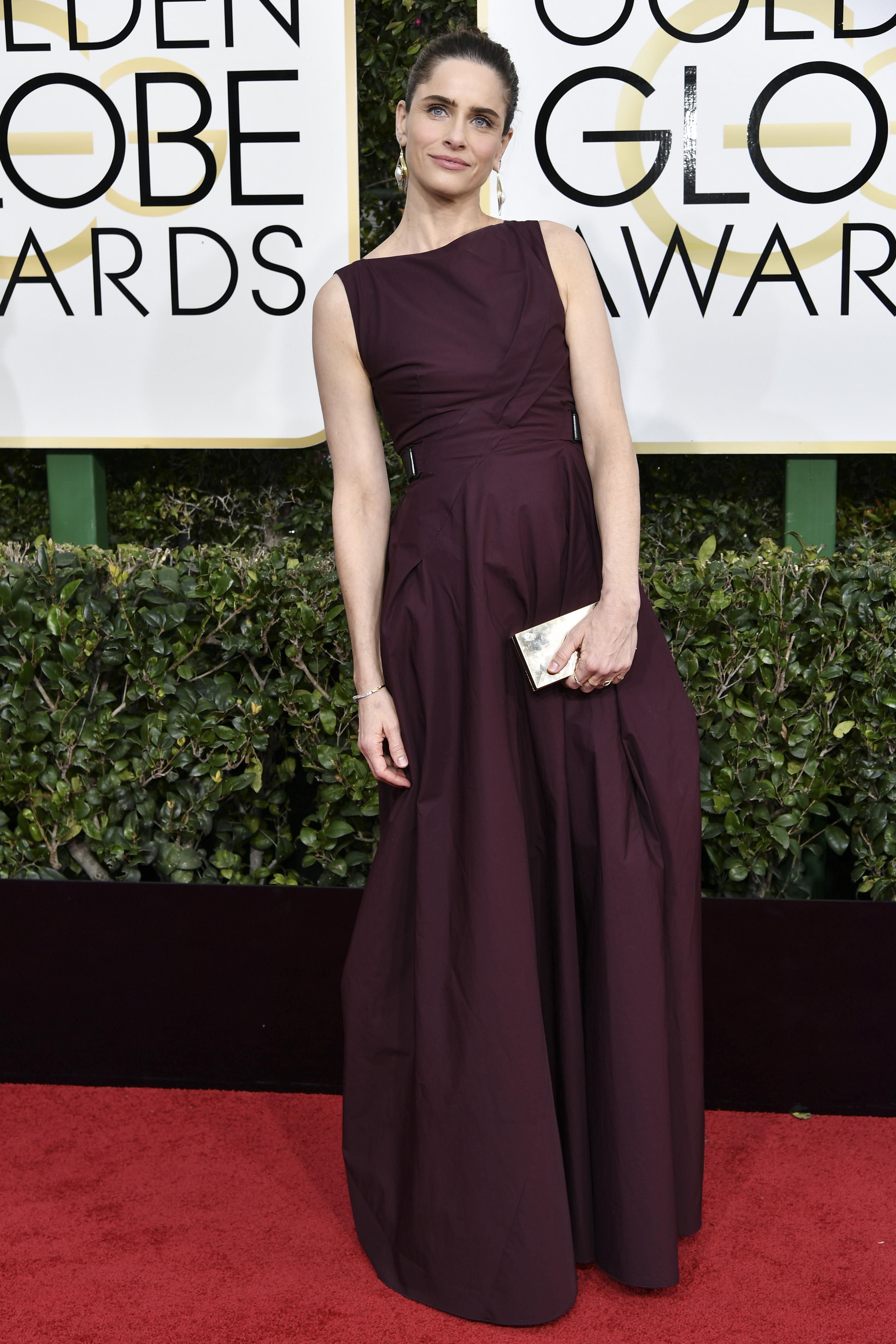 Amanda Peet, Golden Globes. Mandatory Credit: Photo by Rob Latour/REX/Shutterstock