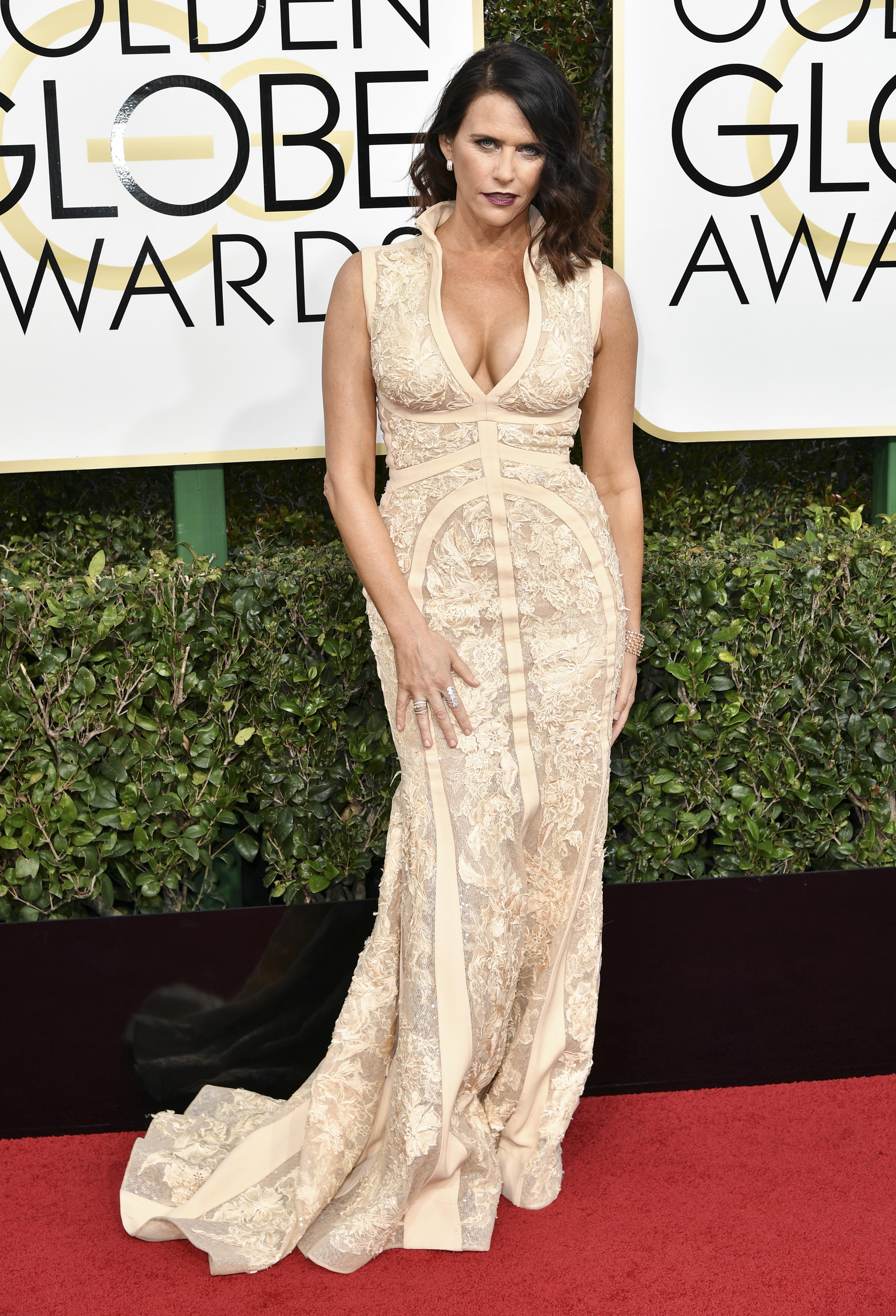 Amy Landecker, Golden Globes. Mandatory Credit: Photo by Rob Latour/REX/Shutterstock