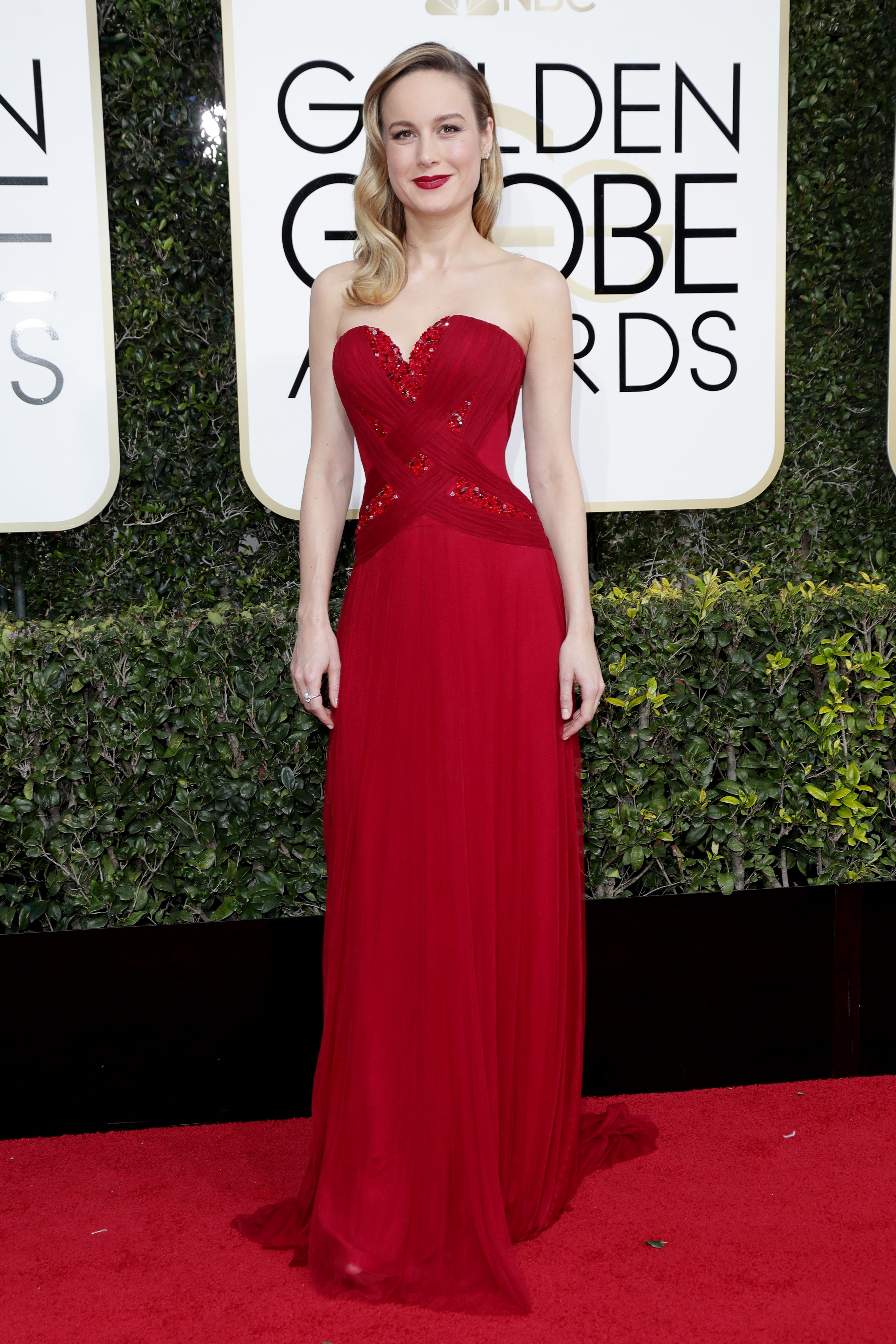 Brie Larson, Golden Globes. Mandatory Credit: Photo by Jim Smeal/BEI/Shutterstock