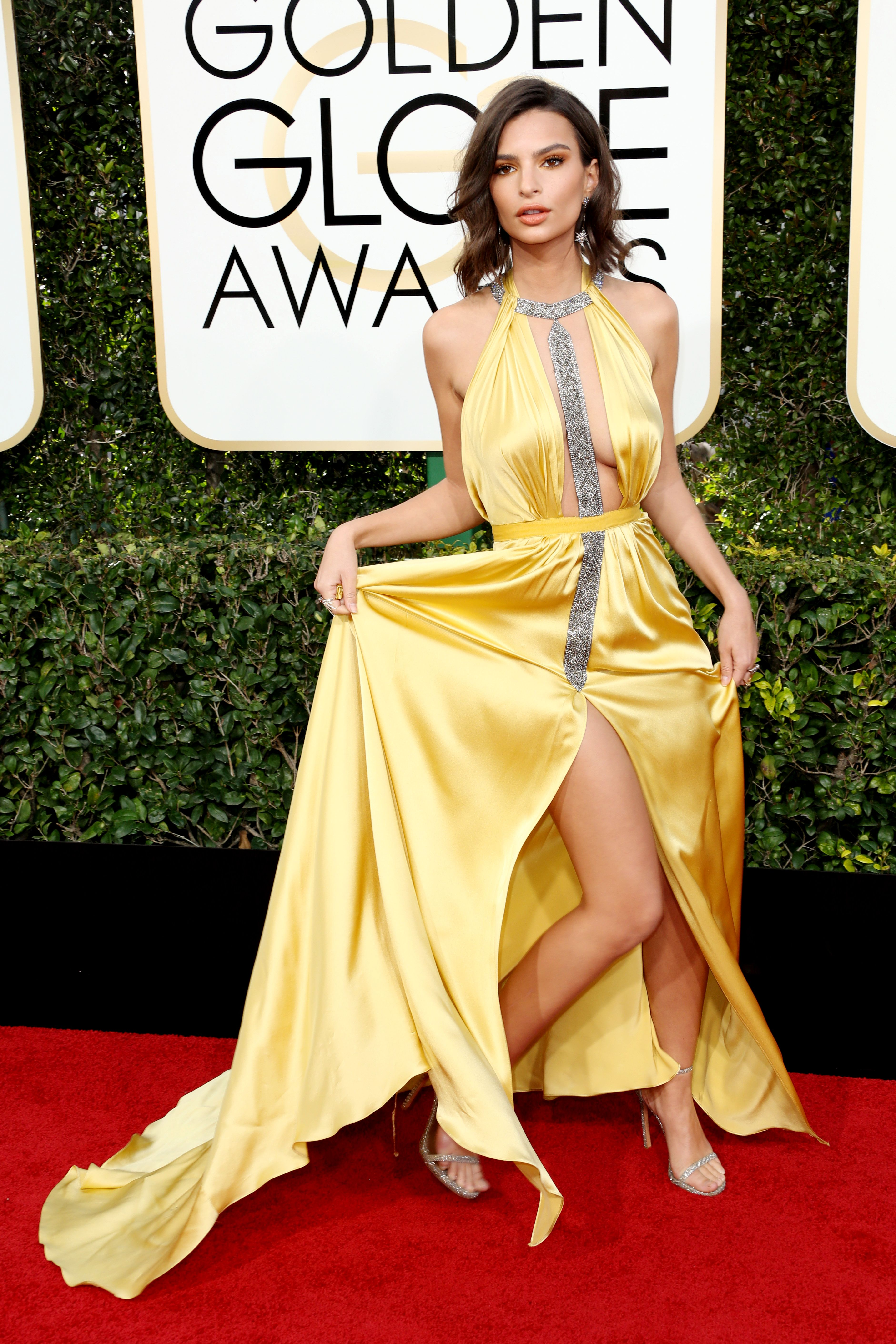 Emily Ratajkowski, Golden Globes. Mandatory Credit: Photo by BEI/Shutterstock