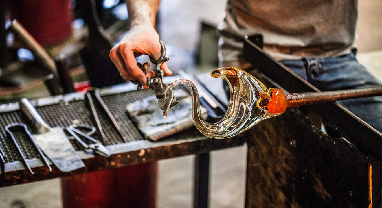 Entity blows the glass ceiling on glassblowing.