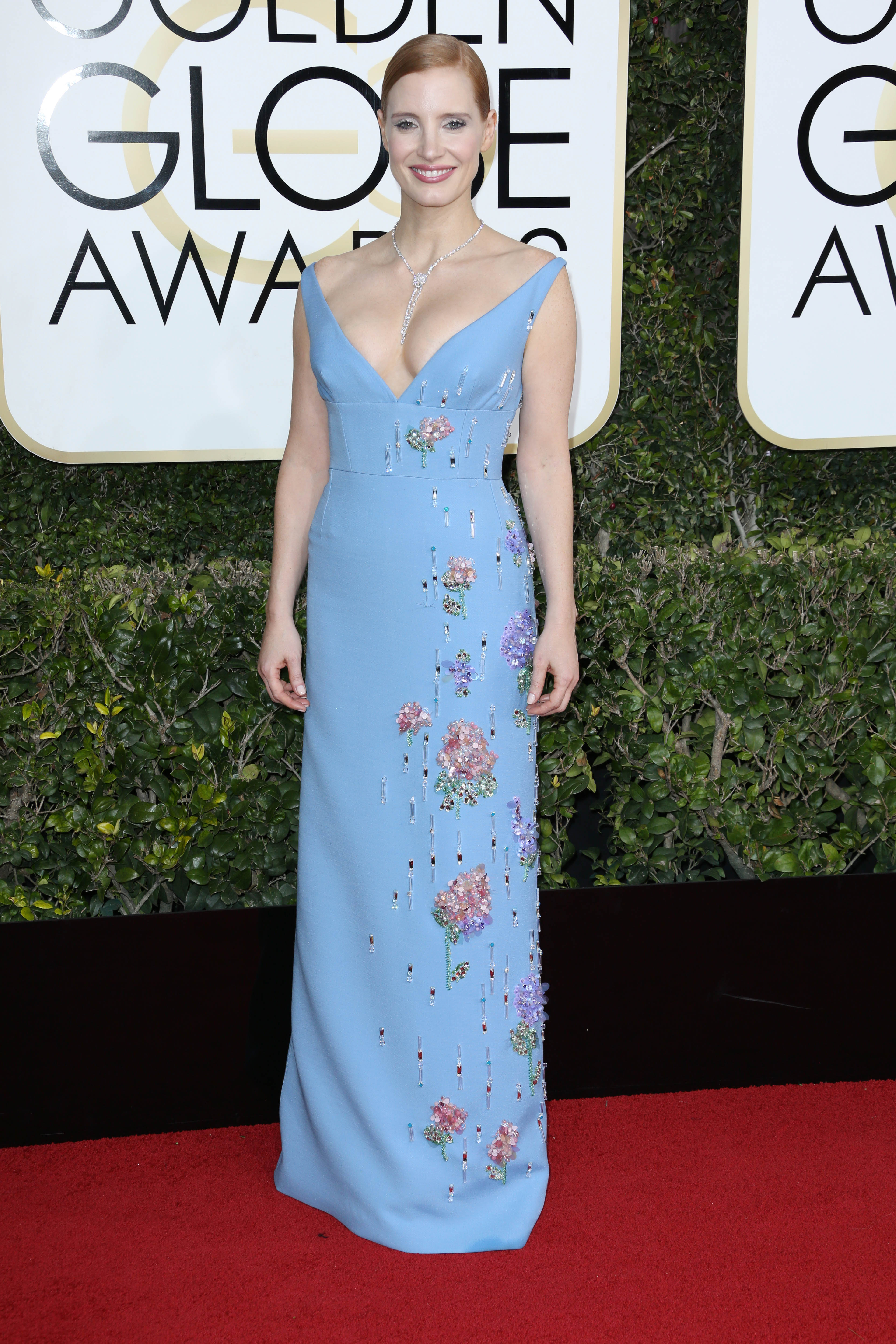 Jessica Chastain, Golden Globes. Mandatory Credit: Photo by BEI/Shutterstock