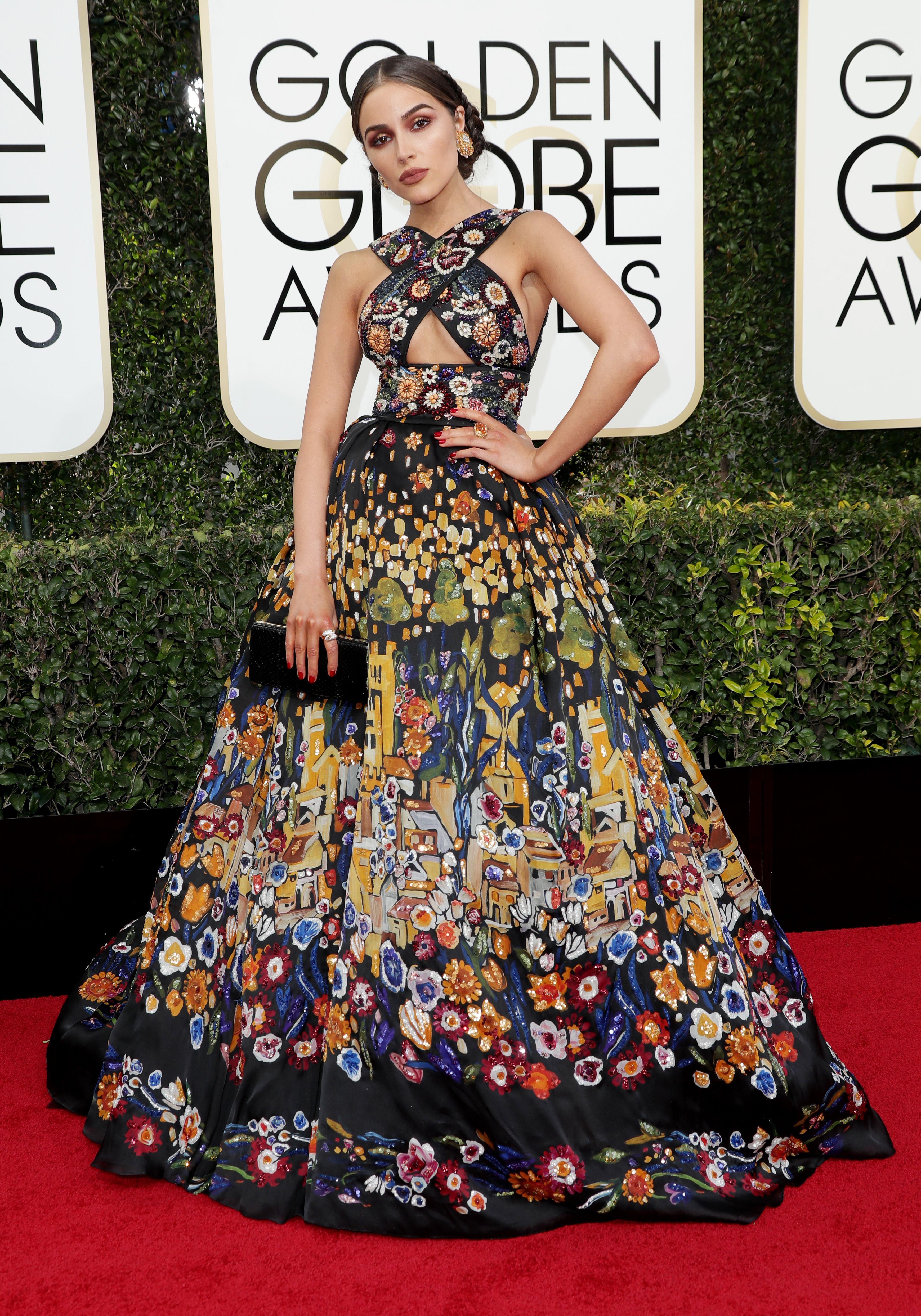 Olivia Culpo, Golden Globes. Mandatory Credit: Photo by Jim Smeal/BEI/Shutterstock