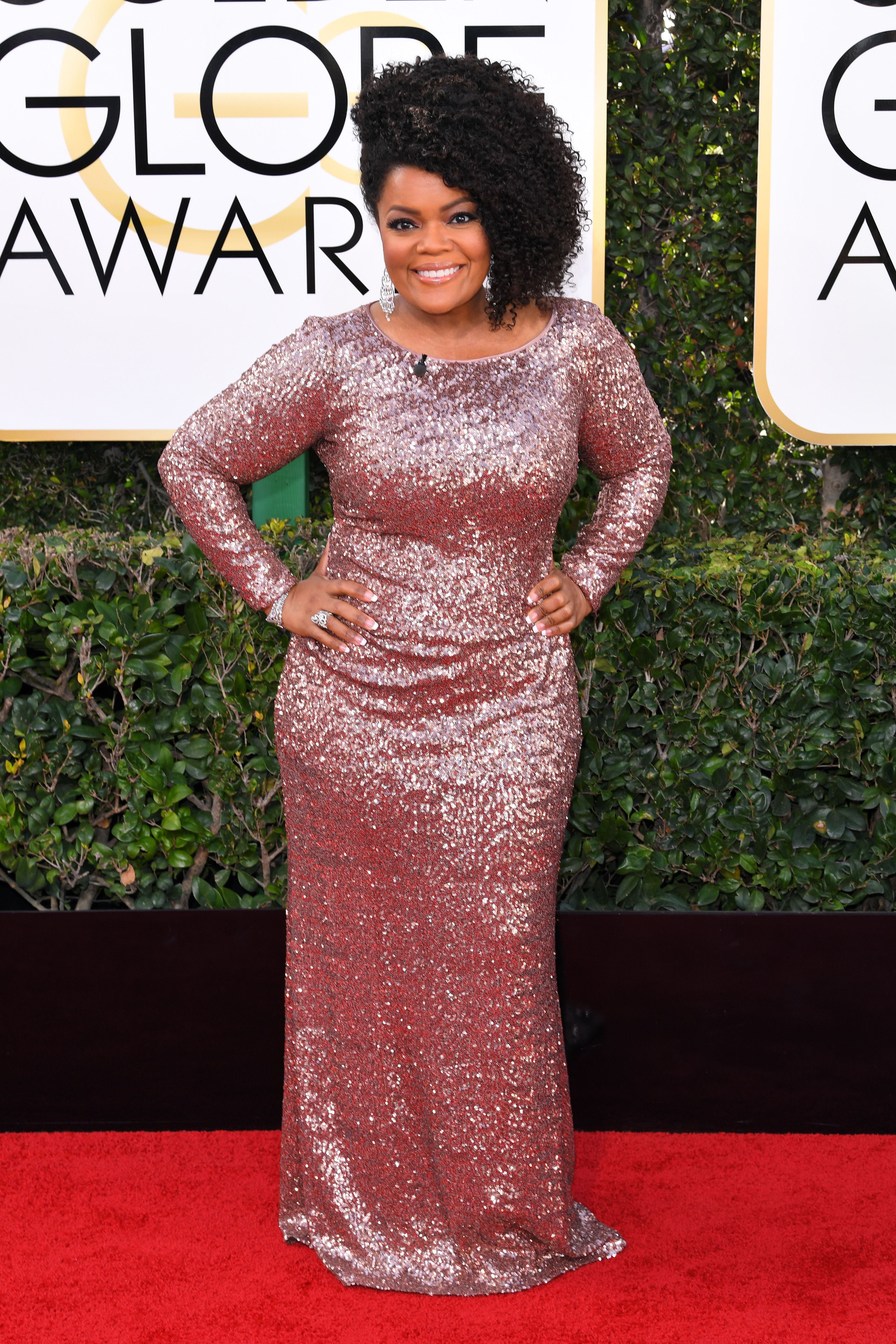 Yvette Nicole Brown, Golden Globes. Mandatory Credit: Photo by REX/Shutterstock