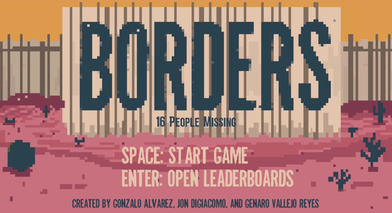 Entity reports on the Borders immigrant video game that shows the treacherous journey to cross the Mexican border into the United States.