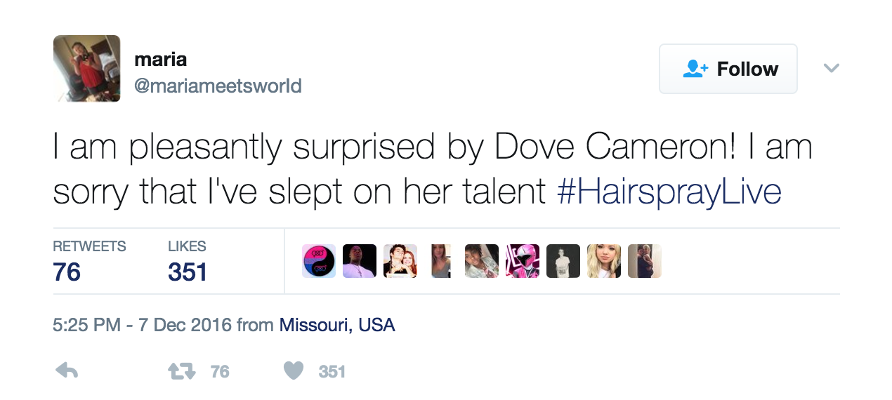 """Who is Dove Cameron? ENTITY discusses her role in NBC's """"Hairspray Live."""""""