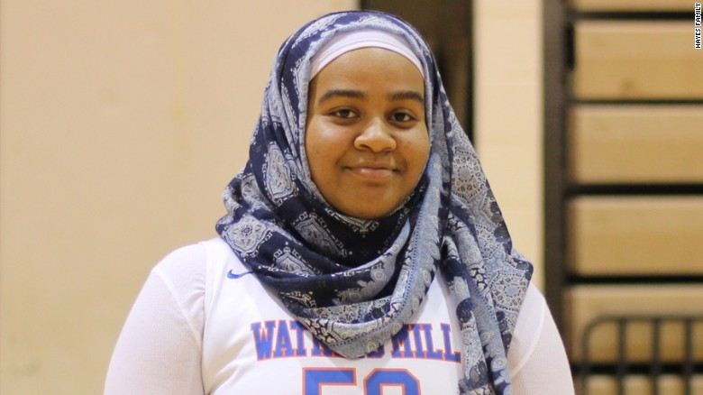 Je'Nan Hayes's hijab banned from basketball game, forcing her to miss her team's final, Entity reports.
