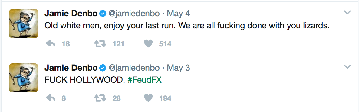 Jamie Denbo Twitter rant about sexism in Hollywood, epically calling out ageism, Entity reports.