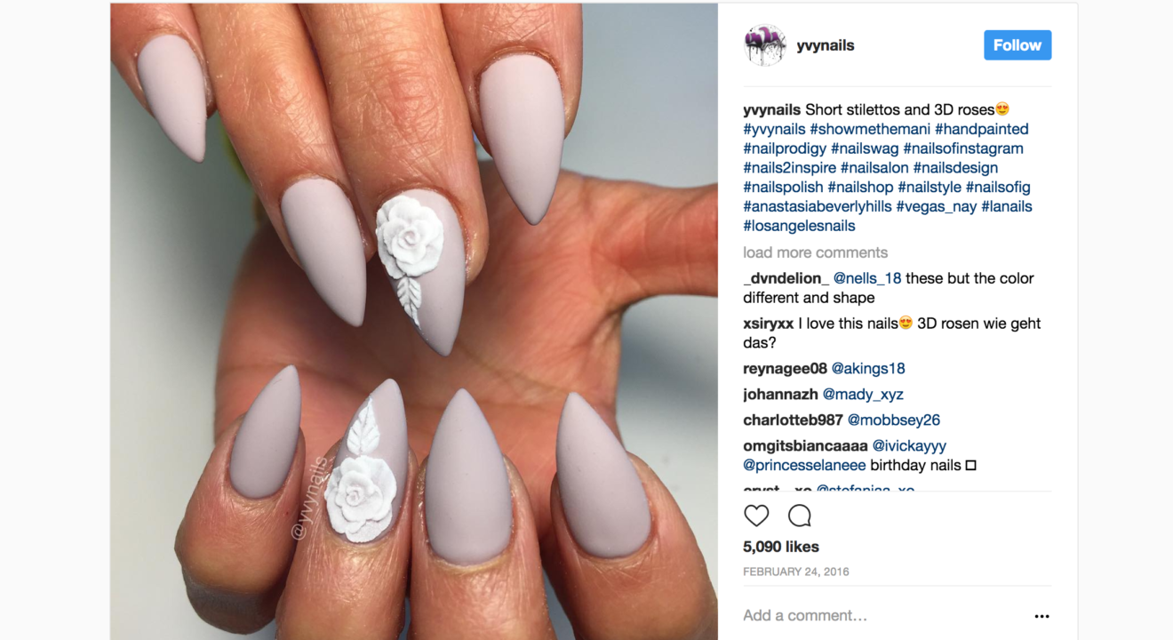 Eny Reports On Stiletto Nails