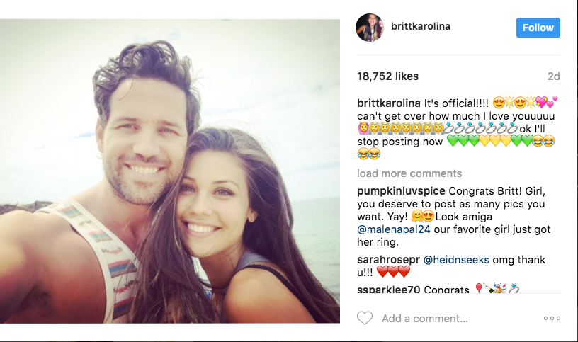 Is britt from bachelorette dating someone