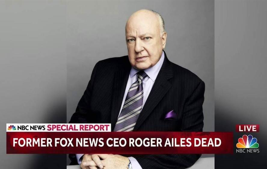 Twitter reacts to Roger Ailes's death, Entity reports.