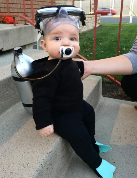 4 A Scuba Diver Costume for babies & Last Minute Costume Ideas for Halloween That Wont Break the Bank