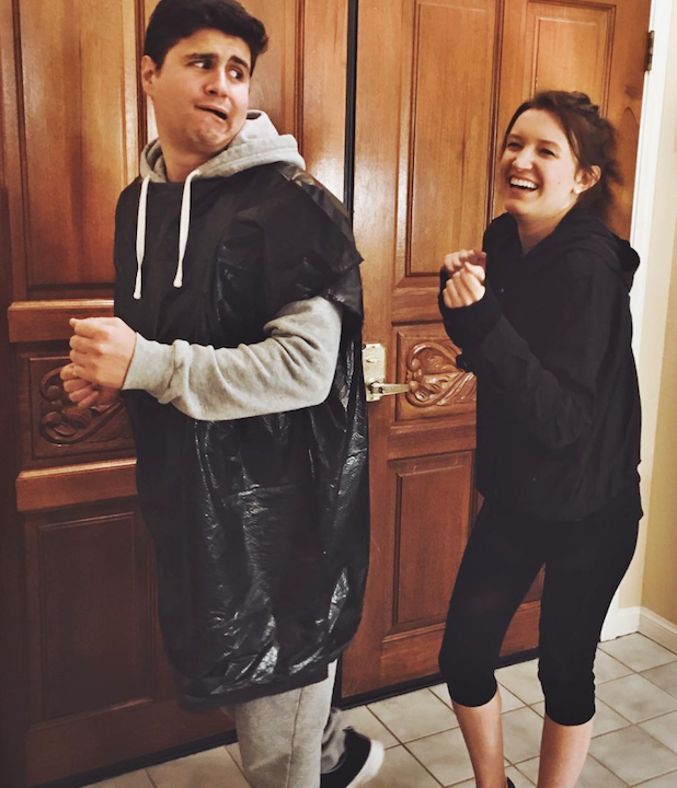 1 with some sweats you can make an easy halloween costume for couples