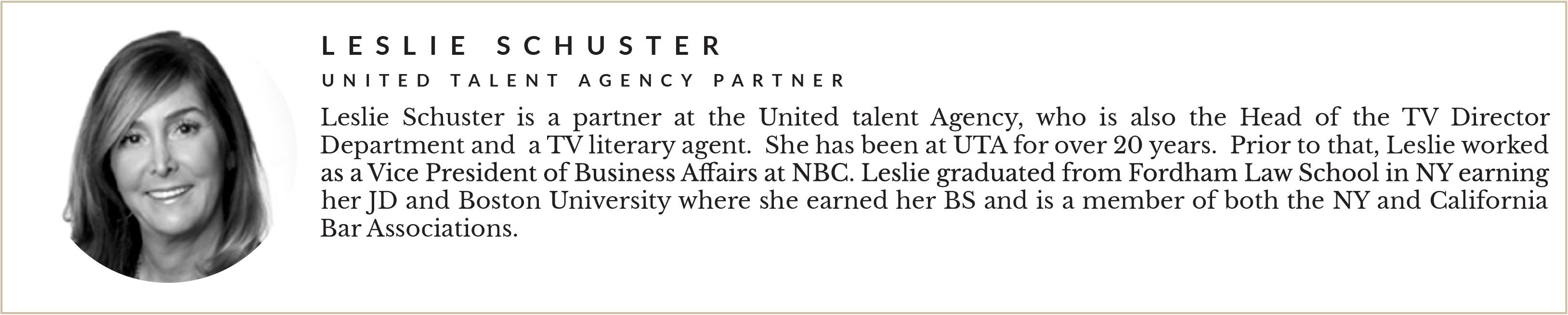 Entity presents Leslie Schuster