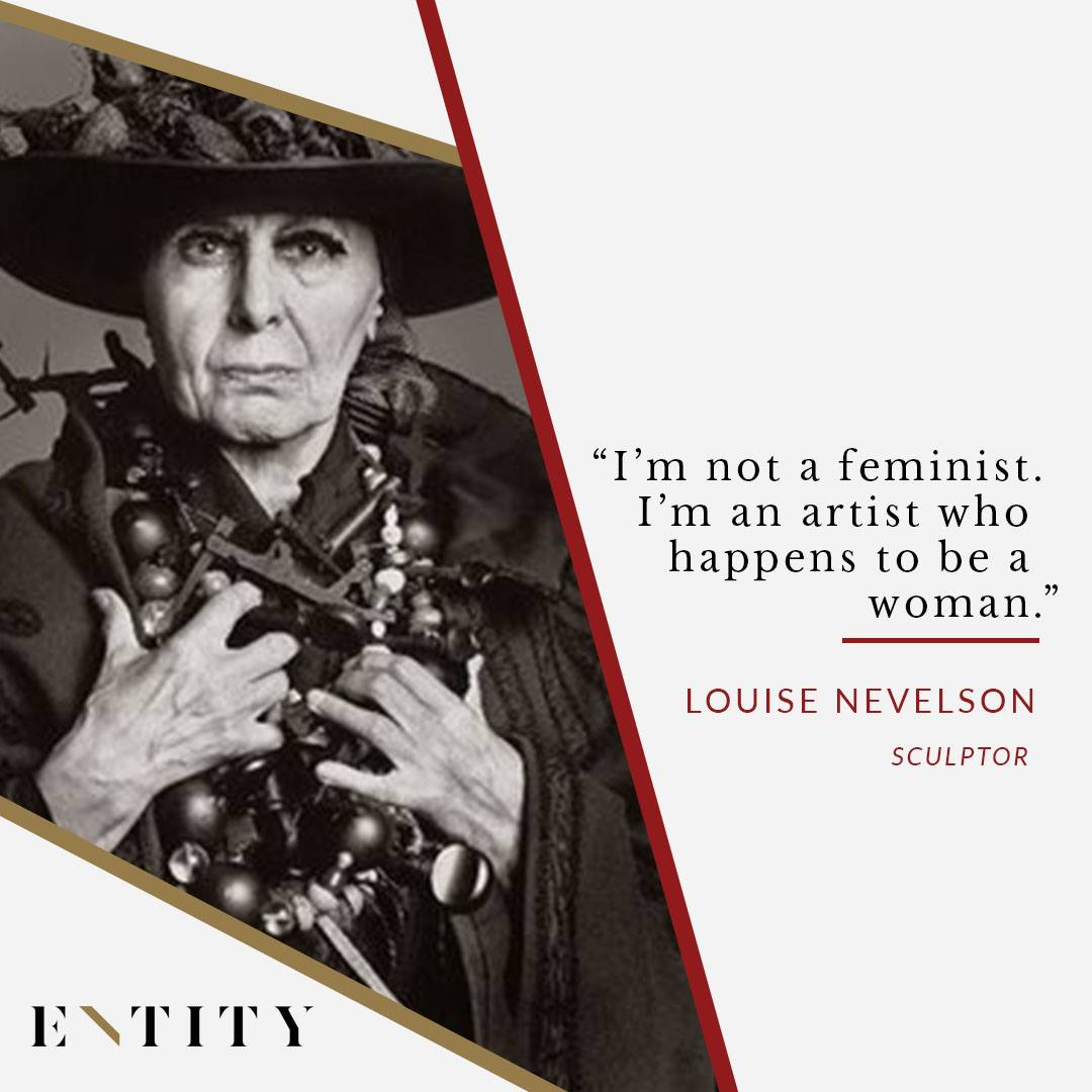 ENTITY reports on louise nevelson as an artist