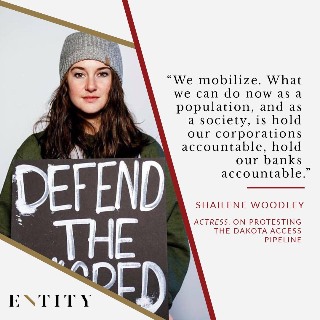 ENTITY reports on shailene woodley quotes about activism